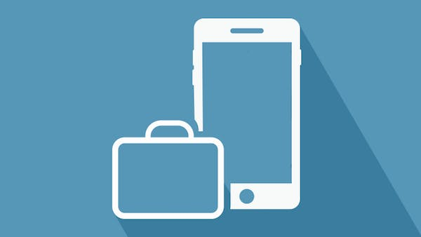 Business mobile phone icon