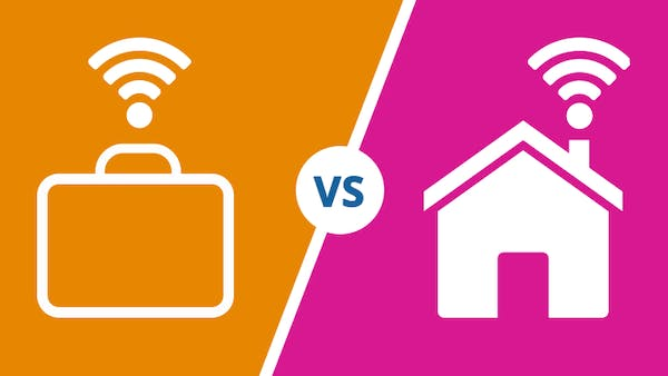 Business broadband Vs Home broadband icon
