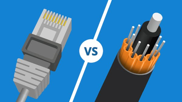 Cable vs fibre icon