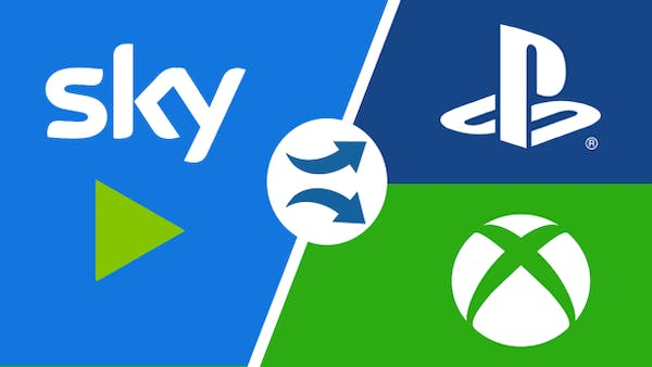 Sky, Playstation & Xbox logos