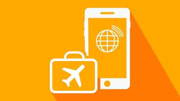 Roaming charges in Europe icon