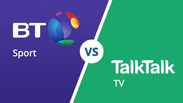 BT vs TalkTalk logo