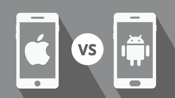 iphone vs android graphic