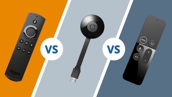Amazon fire stick vs Chromecast vs Apple tv icon