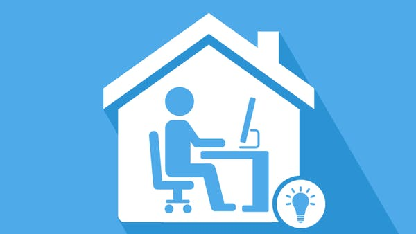 How to set up a home office icon