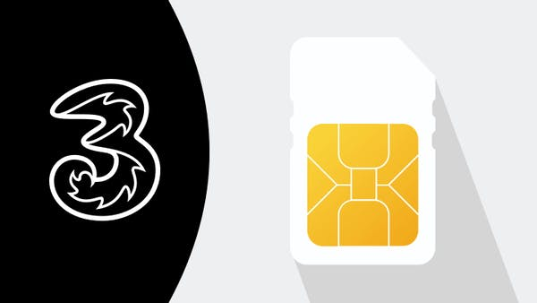 Three logo and SIM