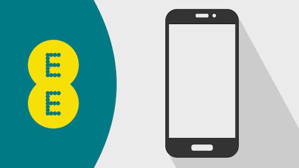 EE logo and mobile