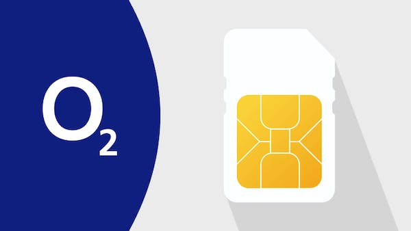 O2 logo and SIM card