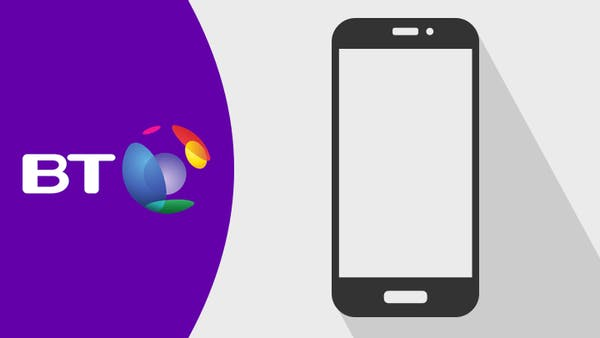 BT logo and mobile