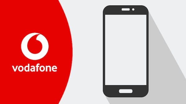 Vodafone logo and mobile