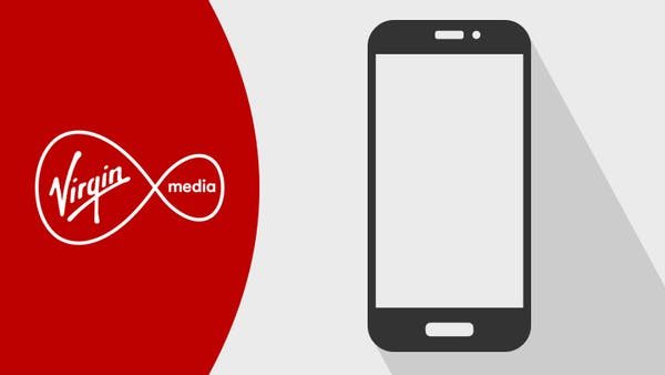 Virgin Media logo and mobile