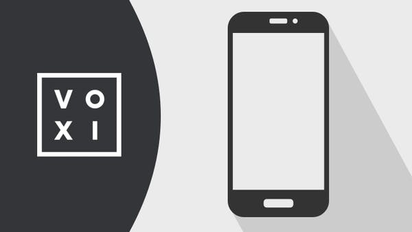 VOXI logo and mobile