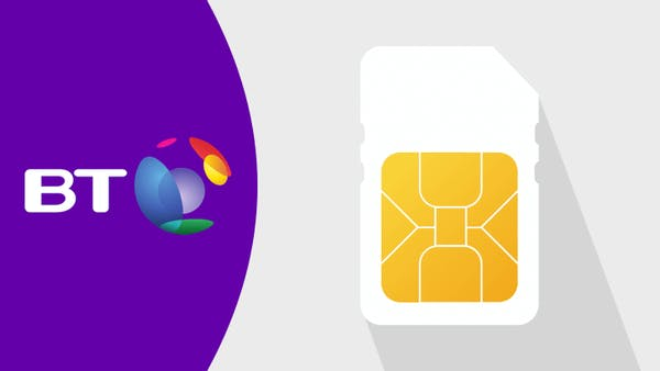 BT logo and SIM