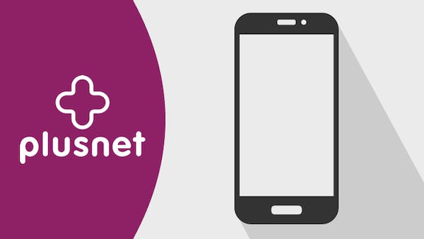Plusnet logo and mobile