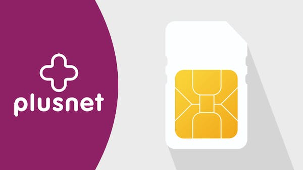 Plusnet logo and SIM
