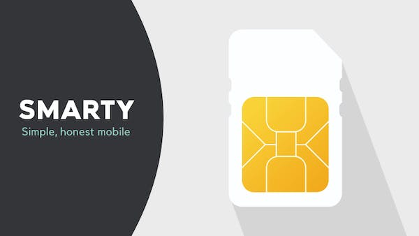 Smarty logo and SIM card