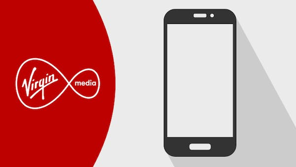 Virgin Media and logo and mobile